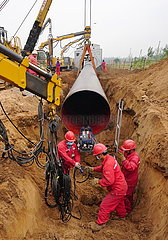 CHINA-HEBEI-RUSSIA-EAST-ROUTE-Erdgas-Pipeline-Bauweise (CN)