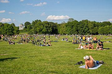 Schönes Wetter und Sonnenschein in München