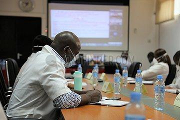 MOZAMBIQUE-MAPUTO-COVID-19-chinesische Experten-Online-Training