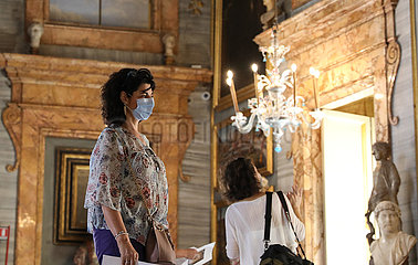 ITALIEN-ROM-COVID-19-COLONNA PALACE-REOPEN