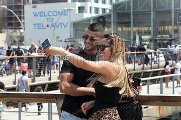 ISRAEL-TEL AVIV-COVID-19