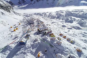 (InTibet) CHINA-Qomolangma-ADVANCE IN SNOW CAMP (CN)