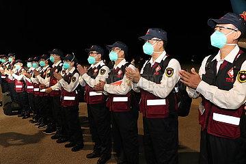 TAJIKISTAN-DUSHANBE-COVID-19-chinesische Team-ANREISE