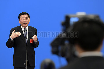 (Zwei Sitzungen) CHINA Beijing-NPC-MINISTERS-Interview (CN) (zwei Sitzungen) CHINA Beijing-NPC-MINISTERS-Interview (CN)