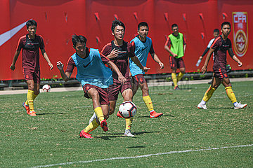 (SP)CHINA-HAIKOU-FOOTBALL-CHINA U16 MEN'S TEAM-TRAINING (CN)