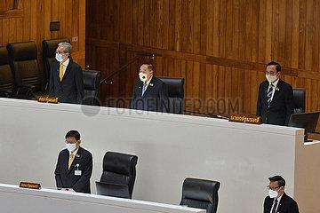 THAILAND-BANGKOK-PM-PARLAMENT SESSION-COVID-19