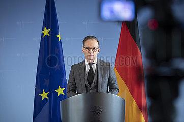 BM Maas bei virtueller Pressekonferenz