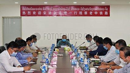 LAOS-VIENTIANE-DEPUTY PM-CHINA-LAOS BAHN-FREUNDSCHAFT
