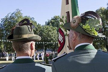 Schützenfest  Antreten der Schützen