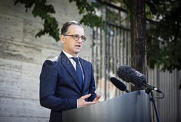 Pressestatement Maas zur neuen Reiseregelung