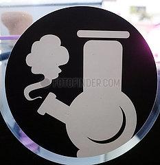 Krakau  Polen  Sticker: Wasserpfeife