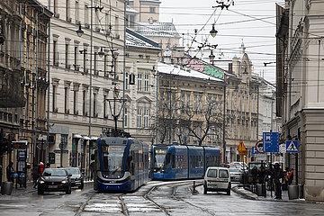 Krakau  Polen  Stadtansicht im Stadtteil Stradom