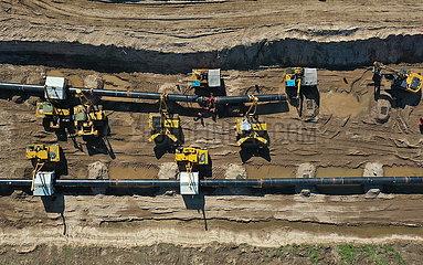 CHINA-HEBEI-RUSSIA-EAST-Erdgas-Pipeline-Bauweise (CN) CHINA-HEBEI-RUSSIA-EAST-Erdgas-Pipeline-Bauweise (CN)