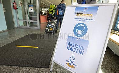 Schutzmassnahme fuer Passagiere bei der AG EMS