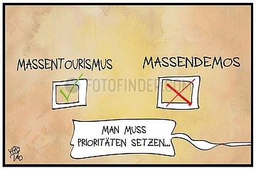 Massentourismus ja - Massendemos nein