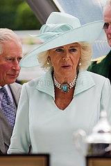 Ascot  Grossbritannien  Camilla Mountbatten-Windsor  Herzogin von Cornwall und Prinz Charles