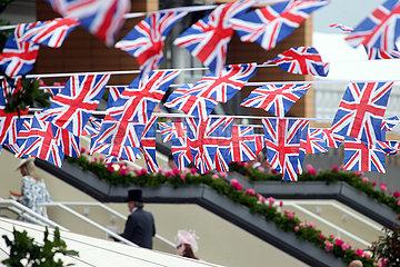 Royal Ascot  Grossbritannien  Nationalfahnen