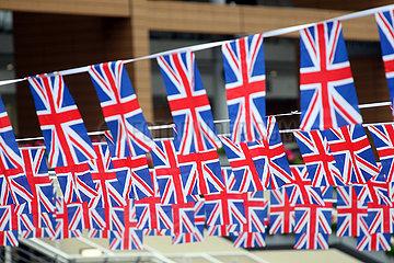 Ascot  Grossbritannien  Nationalfahnen