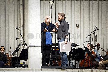 Deutsche Oper Berlin RHEINGOLD AUF DEM PARKDECK   Proben-Foto