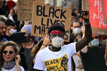 Demonstration gegen Rassismus  Marseille