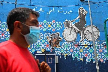 LIBANON-BEIRUT-COVID-19-Losfahren