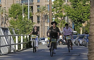 LEBANON-BEIRUT-COVID-19-BICYCLE RIDING