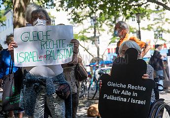 München: Kundgenung gegen die geplante Annexion des Westjordanland