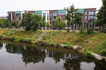 Berlin  Deutschland  Neue Eigenheime in Form von Reihenhaeusern im Bezirk Mitte