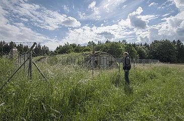 ehemaliges KZ-Lager Kaufering VII  Besucher  2020