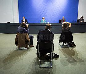 Pressekonferenz nach Treffen der Laenderchefs