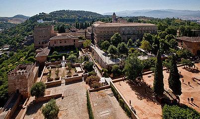 SPANIEN-GRANADA-Alhambra-Palast-WIEDERERöFFNUNG