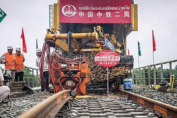 LAOS-VIENTIANE-CHINA-BAHN-SEAMLESS RAIL