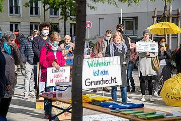 Dawonia Mieter demonstrieren gegen steigende Mieten