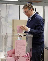 SERBIA-BELGRADE-VUCIC-PARLIAMENTARY ELECTIONS