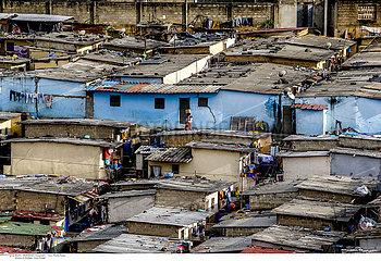 Slums in Abidjan  Ivory Coast