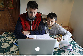 Homework in Eure  France during COVID-19 epidemic