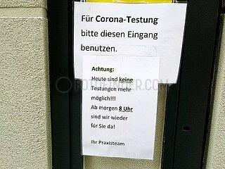 Corona-Testung