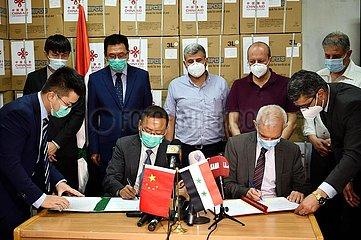 SYRIEN-DAMASKUS-CHINA-medizinische Geräte-AID