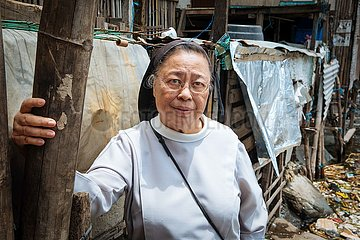Armenviertel Tondo Slum am Manila Bay
