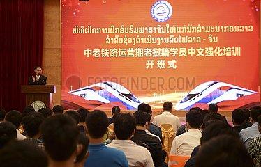 LAOS-CHINA-LAOS BAHN-TRAINEES-chinesische Sprache LERNEN CLASS