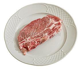 Billigfleisch Marke Tillman's Qualitaetsmetzgerei  Rheda-Wiedenbrueck  Toennies  frisches Schweine-Nackenkotelett
