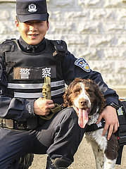 CHINA-JILIN-Baishan-GRENZE-SNIFFER DOG (CN)