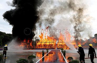 MYANMAR-YANGON-DRUG-DESTRUCTION MYANMAR-YANGON-DRUG-DESTRUCTION