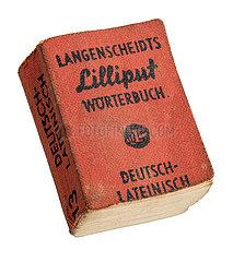 Lilliput Woerterbuch  Langenscheidt  Deutsch-Lateinisch  1970