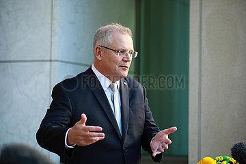 AUSTRALIA-CANBERRA-PM-COVID-19-PRESS CONFERENCE