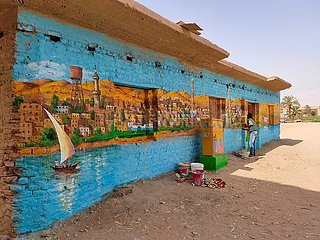 ÄGYPTEN-Qena-KUNSTLEHRER-VILLAGE-OPEN-AIR MUSEUM ÄGYPTEN-Qena-KUNSTLEHRER-VILLAGE-OPEN-AIR MUSEUM