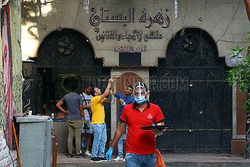 ÄGYPTEN-KAIRO-COVID-19-MASSNAHMEN