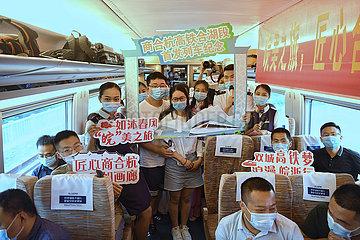 CHINA-ANHUI-ZHEJIANG-Hochgeschwindigkeits-Eisenbahn-OPERATION (CN)