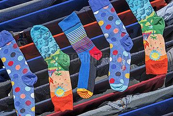 Waeschestaender  Waesche beim trocknen  Socken