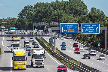 Fliessender Verkehr bei Hamburg